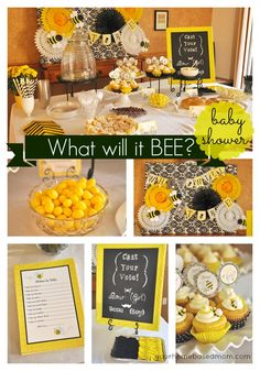 What Will it Bee?  Baby Shower @yourhomebasedmom.com #babyshower  #party