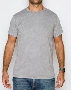 94b4892ef19 Power wash crew neck t-shirt - steel grey