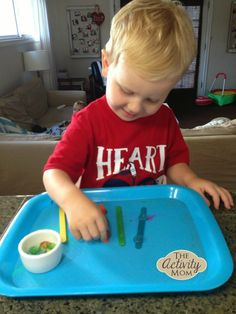 Sort and Balance Toddler Activity - The Activity Mom