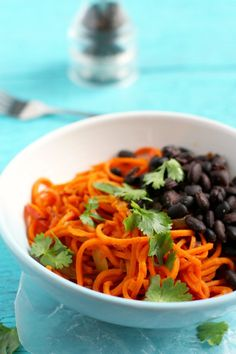 Southwest sweet potato noodles are an easy, healthy, and delicious lunch or dinner! Gluten free and vegan.