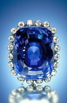 The Logan Sapphire Originally from Sri Lanka, this 423-carat violet blue sapphire is roughly the size of an egg. It belonged to a Washington, D.C., socialite, Mrs. Polly Logan, who donated the stone to the Smithsonian's collection in 1960.