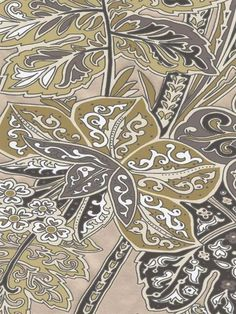 Taupe Indienne Floral Wallpaper