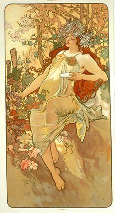 Outono - Alphonse Mucha, 1896.