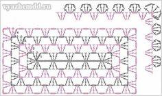 схема вязания коврика 2
