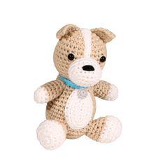 "Lil' Dimples -  4"" Dog Crochet Rattle"