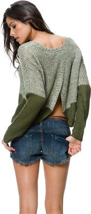 SWELL MOSS OMBRE SWEATER | Swell.com