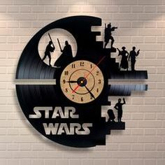 3D Vinyl Record Wall Clock STAR WARS