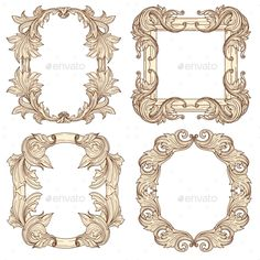 Picture Frames in Baroque Antique Style