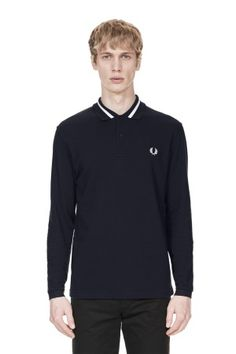 Long Sleeve Single Tipped Fred Perry Shirt