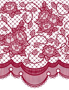 Transparent Lace with Roses Decoration PNG Picture