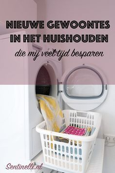 New household habits that save me a lot of time + FREE workbook - Miss Sentinelli - New household habits that save me a lot of time - Cleaning Checklist, House Cleaning Tips, Cleaning Hacks, Housekeeping Tips, Home Management, Laundry Room Storage, Life Hacks, Tidy Up, Plastic Laundry Basket