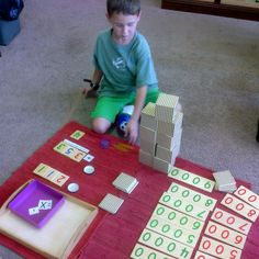 A Kidingardner adding with the Bead Material.