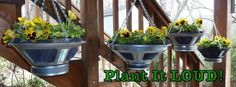 Plant It Loud makes wonderful hanging planters from tired speaker components
