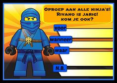 lego ninjago verjaardag uitnodiging