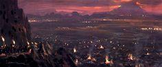 PAUL LASAINE: Portfolio: Lord of the Rings: Illustrations #Mordor