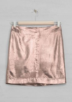 perforated copper leather skirt | & Other Stories