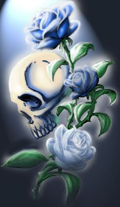 Skull n' Roses by Yuichi-2098.deviantart.com on @deviantART