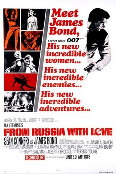 1963 - From Russia with Love met Sean Connery