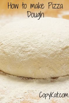 You can make your own homemade pizza dough, it is so easy to do, and you can save money!!