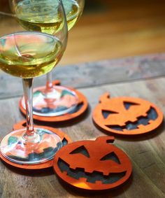 Look at this #zulilyfind! Painted Jack-O-Lanter Coaster - Set of Four…