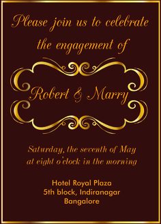 Indian engagement invitation card with wordings check it out free gold themed engagement invitation card with wordings check it out stopboris Image collections