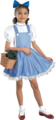 Girls Wizard of Oz Dorothy Costume Deluxe - Party City
