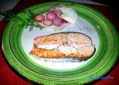 Salmone con Insalata di Finocchi e Ravanelli