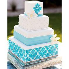 {The Food} Wedding cake.  @Ann Taylor @Style Me Pretty