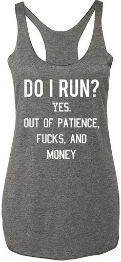 Do I Run? Gray Tank Top