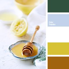Warm shades of yellow colour from this range are suitable for decoration of a child's room. And with the help of white, dark green and grayish-blue colour.