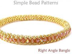 Right Angle Weave - RAW - Jewelry Making Beading Patterns - . - Right Angle Weave – RAW – Jewelry Making Beading Patterns – Beaded Bracelet Tutorials – Sim - Jewelry Patterns, Bracelet Patterns, Beading Patterns, Embroidery Patterns, Art Patterns, Knitting Patterns, Crochet Patterns, Loom Patterns, Jewelry Ideas