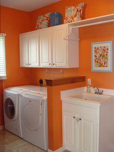 "Orange Laundry Room from ""The Color Orange"""