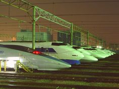 The Shinkansen (New Trunk Line) is a network of high-speed railway lines in Japan operated by four Japan Railways Group companies. Starting with the Tōkaidō Shinkansen (515.4 km, 320.3 mi) in 1964, the network has expanded to currently consist of 2,615.7 km (1,625.3 mi) of lines with maximum speeds of 240–320 km/h (150–200 mph), 283.5 km (176.2 mi) of Mini-Shinkansen lines with a maximum speed of 130 km/h (80 mph), and 10.3 km (6.4 mi) of spur lines with Shinkansen services.