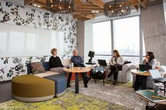 There are more than 100 convertible rooms that can be rented out for a team meeting or brainstorm. Rooms can even be booked for weeks at a time in case there's a major project in the works.