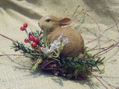 Christmas Bunnies by CerridwensGardens on Etsy