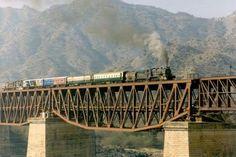Train on Attock Bridge