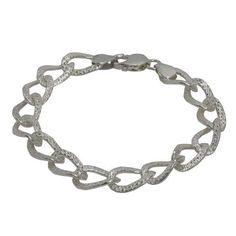 Designer Jewelry from India Sterling Silver Link Bracelets for Women: Jewelry: Amazon.com