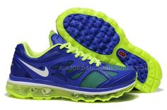 Save Up To Mens Nike Air Max 2012 Game Royal Metallic Silver Electric Green  Shoes