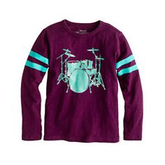 J. Crew Boys' long-sleeve drum set tee