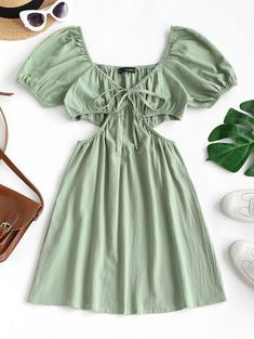 Types Of Sleeves, Dresses With Sleeves, Lace Dresses, Picnic Dress, Plunge Dress, Romper With Skirt, Cute Clothes For Women, Cute Comfy Outfits, Types Of Dresses
