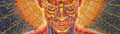 Praying... One of many great works of Alex Grey from Progress of the Soul series.