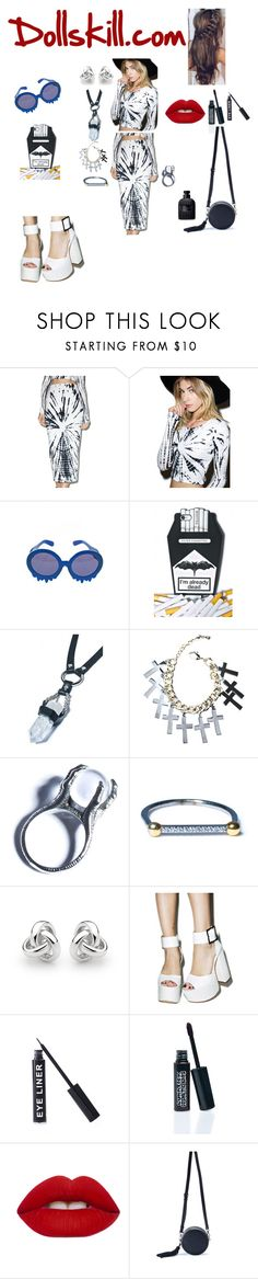 """""""Dollskill.com"""" by ashes611 ❤ liked on Polyvore featuring Motel, Rock 'N Rose, Kill Star, Luv Aj, Georgini, Stargazer, LunatiCK Cosmetic Labs, Lime Crime and Valentino"""