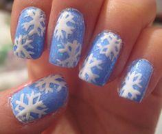 Snowflake❄️ Christmas #Nails #Festive