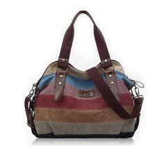 2016 Canvas handbags top quality women shoulder bags designer totes casual…