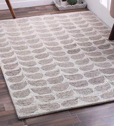 Moris Abstract Pattern Wool 6 X 4 Feet Grey Hand Tufted Carpet by Bohemiana Blue Carpet, Wool Carpet, Blush And Grey Living Room, Carpets Online, Patterned Carpet, Carpet Flooring, Abstract Pattern, Carpet Runner, Pattern Design
