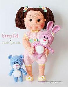Ravelry: Amigurumi Emma Doll pattern by Tiny Mini Design