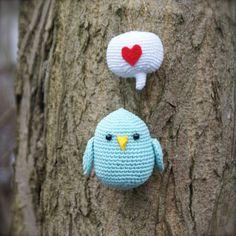 Love bird amigurumi crochet free pattern