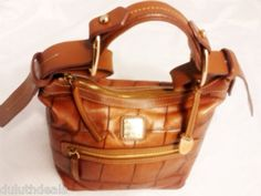 Dooney & Bourke Hobo, Shoulder Bag, Purse, Croco Embossed in Brown