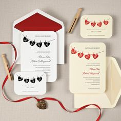 Hung up on Love Wedding Invitation | #exclusivelyweddings | #weddinginvitations