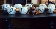 halloween tablescape ... Except instead of 'Halloween' ... Chris & Lorena =)